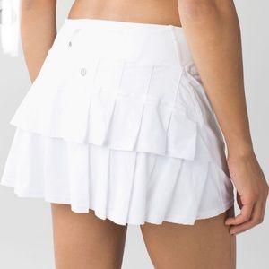 Lululemon 6 Pacesetter Skirt Skort - White